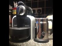 Nespresso Coffee Machine Black with Frother