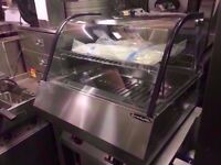 NEW HOT FOOD DISPLAY CABINET CATERING COMMERCIAL CHICKEN PIZZA KEBAB RESTAURANT TAKE AWAY SHOP