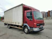 DAF FA LF45 170 6 SPEED MANUAL 20FT CURTAINSIDE WITH TAIL LIFTALL NEW TYRES -LIKE MERCEDES MAN IVECO