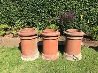 3 chimney pots from an Edwardian House