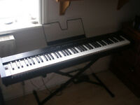 KORG keyboard SP-100 and M-audio speakers for sale