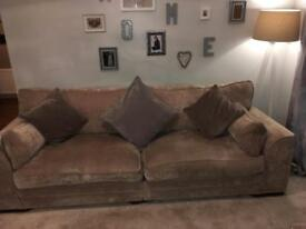 Three and four seater sofa