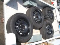 215 60 16 as new WINTER TYRES on VW wheels 5x112 ( 2 pairs )