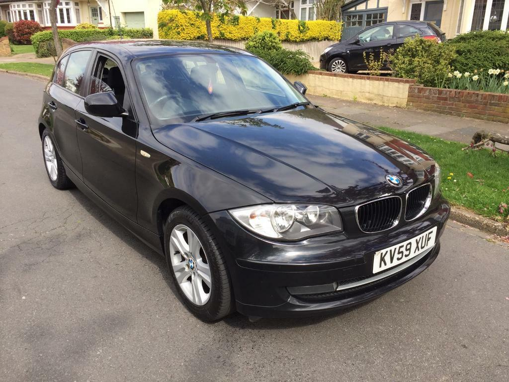 2009 59 bmw 1 series 116i se black 5 door hatch in. Black Bedroom Furniture Sets. Home Design Ideas
