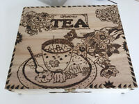 Handmade Tea box pyrography