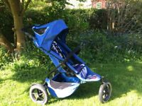Phil and Teds Sport pushchair / double pushchair in blue cameo