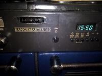 RANGEMASTER 110 Leisure Range Cooker Midnight Blue Brass fittings