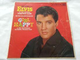 Elvis Presley Lp Girl Happy rare black label red spot