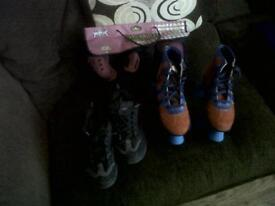 Roller skates and helleys size 3