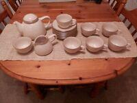 RARE Gourmets Pride Kalahari Sands Beige tea set unused,brand new