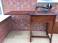 Vintage Vickers sewing machine table