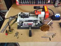 Tempest portable key cutting machine and boards
