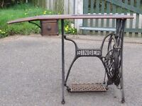 Singer Sewing Machine Treadle Table Garden Table Breakfast Table