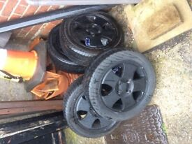 4 Ford Fiesta mk3 alloy wheels and nearly new tyres