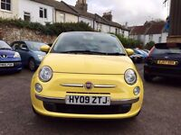 Fiat 500 1.2 Lounge Dualogic 3dr£4,495 cambelt,water pump replaced