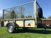 IFOR WILLIAMS CAGED UTILITY TRAILER - 8ft x 4ft - VGC ... L@@K