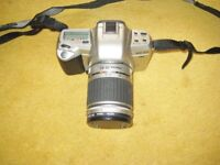 Pentax MZ-60 QD Camera And Lens With Operating Manual And Strap.