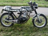 Cafe racer honda 250 cc rsa engine total rebuild from ground up 9 months mot mature owner.