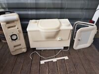 THETFORD PORTA POTTI caravan, camper, motorhome or boat cassette toilet with 12V flush.