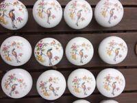 Ceramic door knobs. Ornate bird designs. Very good condition.