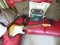 Tanglewood Electric Guitar Nevada FST 32K with lead & Page Amp