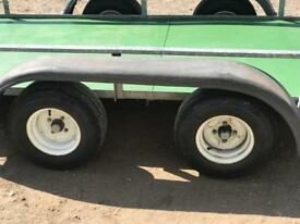 Twin wheel trailer quad bike go kart buggy etc