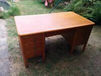 Large desk - Pine effect office desk