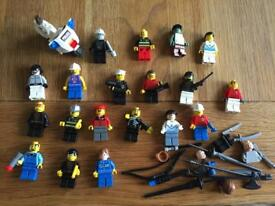 19 LEGO MINI FIGURES WITH ACCESSORIES CAN POST