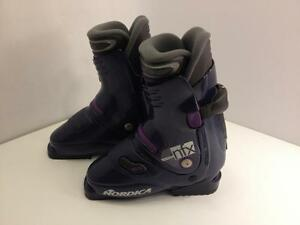 Nordica nfx girl's junior ski boots, size 22.5 - 23.5 Mondo, heel load