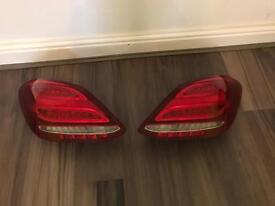 Genuine Mercedes C Class W205 Pair Of LED Rear Lights 2014-2015-2016-