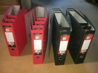 Clearance Lever arch files , brand new £10 per box of 10 , Various colours and brands available