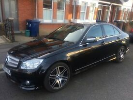 LOW MILES! 2008 Mercedes Benz C200 1.8 Kompressor Sport 4 Door Auto/Manual Petrol Black AMG Styling