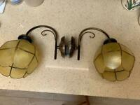 Vintage pair of wall lights