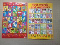 Kids posters - alphabet and first words and numbers