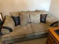Very good condition, brown sofa