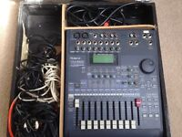 VM3100 Mixer; amps and speakers.