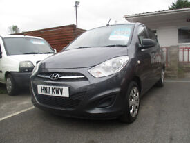 Hyundai i10 1.2 Classic 5dr 2011 (11 reg), Hatchback comes with 12 months mot low tax £20 a year