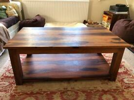 Walnut Coffee Table with Shelf