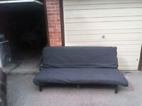 Sofa Bed EXARBY with grey cover offer
