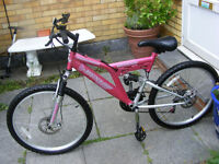 "GIRLS 24"" WHEEL DISC BRAKE BIKE IN GREAT WORKING CONDITION AGE 10+"