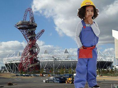Boys Girls Builder Engineer fancy dress up BNWT 3-5 5-7yrs DIY Handyman Costume