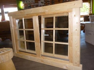 Doppel-, Isolierglas Doppelfenster 966 x 1432 mm für Ferien- oder Gartenhaus