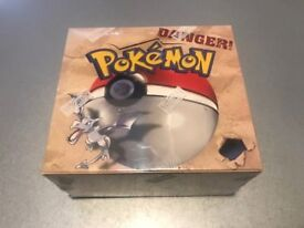 POKEMON FOSSIL BOOSTER BOX UNLIMITED ENGLISH SEALED NEW 1999