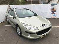 Peugeot 407 SW S 1.6 HDI, Panoramic Sun roof, 12 Month Mot, 3 Month Warranty
