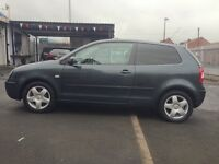 VW Polo 1.4 petrol FS I 13 November MOT cheap insurance and road tax