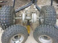 Quad wheels and axsle