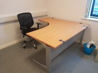 executive beech office managers corner office desks