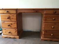 Solid pine dressing table