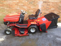 Westwood T1800 Ride on Mower 18HP / 48 inch deck with powered rear grass sweeper - garden tractor