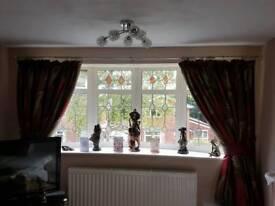 Matching curtains & cushions